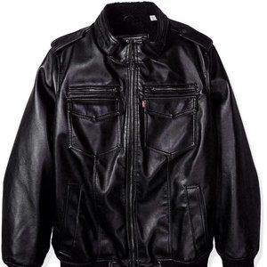 Levis Big & Tall Faux Leather Bomber